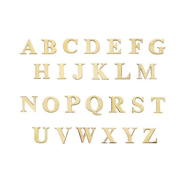 Polished Brass Finish Letters