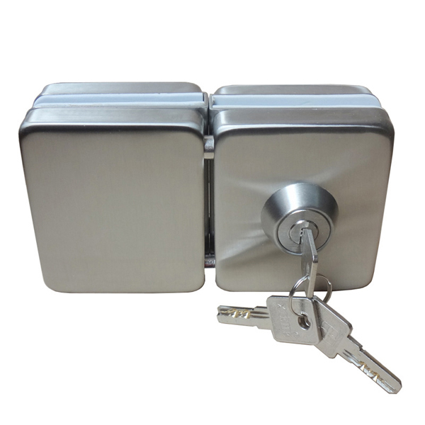 double side open commercial sliding glass door lock