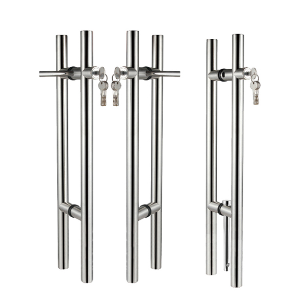 Glass Door Stainless Steel Locking Pull Handle
