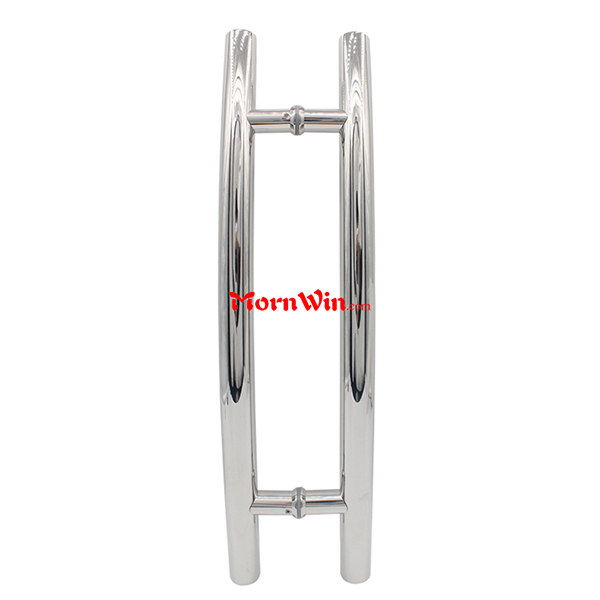 Double bend stainless steel handle glass door handle pull handle