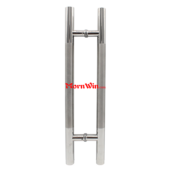 Hot sale back to back stainless steel glass door pull handles h shaped door handles