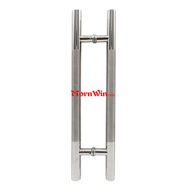 Double sided 304 stainless steel door handle glass push pull door handle