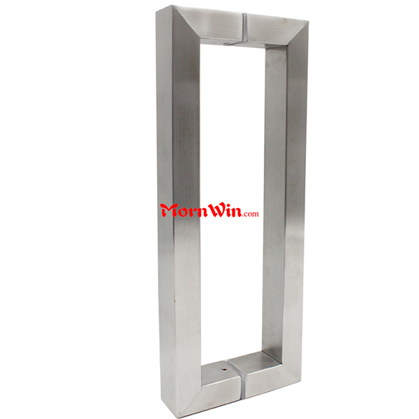 High Quality Stainless steel Square Tube Pull Handle glass door pull handle