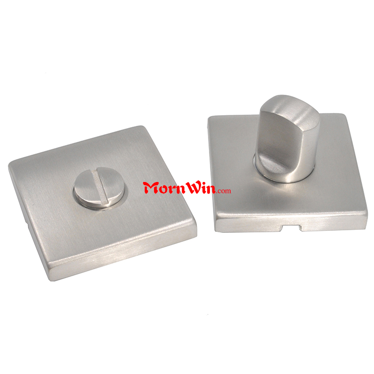Square rose turn release interior stainless steel door knob for WC bathroom shower door